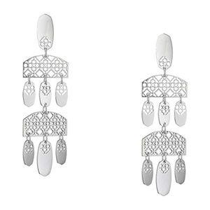 NEW Kendra Scott Emmett Filigree Silver Earrings